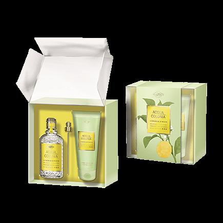 4711 Acqua Colonia Lemon & Ginger Set mit Shower Gel