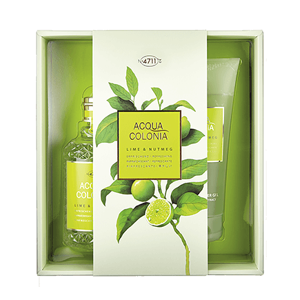 4711 Acqua Colonia Lime & Nutmeg Set mit Shower Gel
