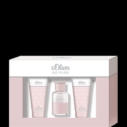 s.Oliver So Pure Woman Trio-Set Eau de Toilette + Shower Gel + Body Lotion