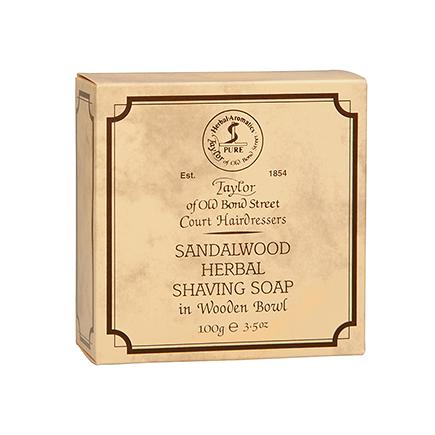 Taylor of Old Bond Street Taylor Sandalwood Herbal Shaving Soap in Wooden Bowl