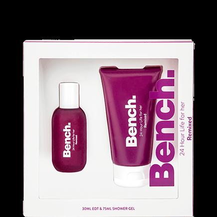Bench. 24 Hour Life Women Remixed Set Eau de Toilette + Shower Gel
