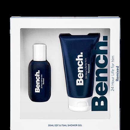 Bench. 24 Hour Life Men Remixed Set Eau de Toilette Spray + Shower Gel
