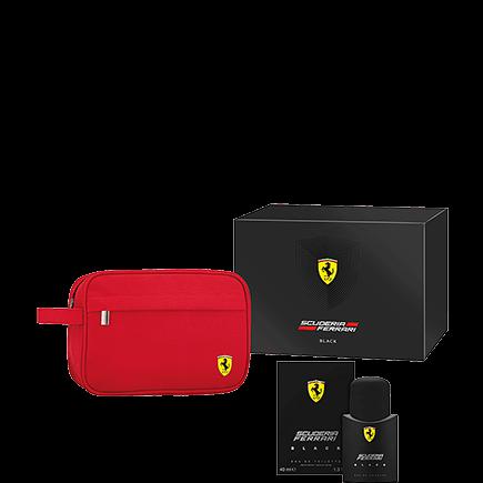 Ferrari Black Eau de Toilette Spray + Kulturbeutel