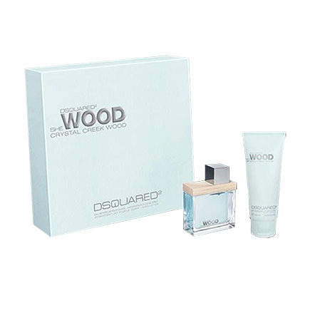 Dsquared² Crystal Creek Wood Set mit Body Lotion